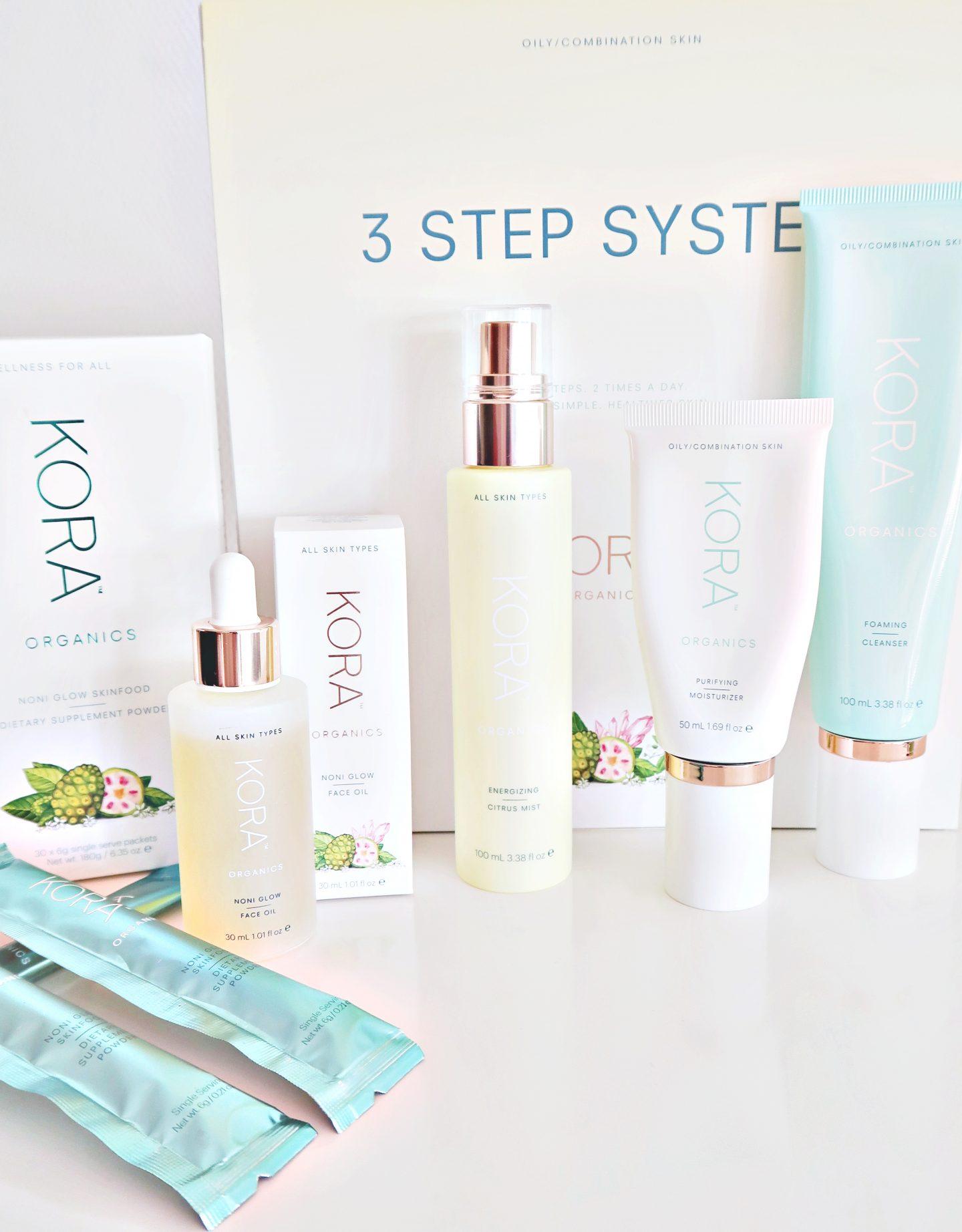 kora organics - 3 step system